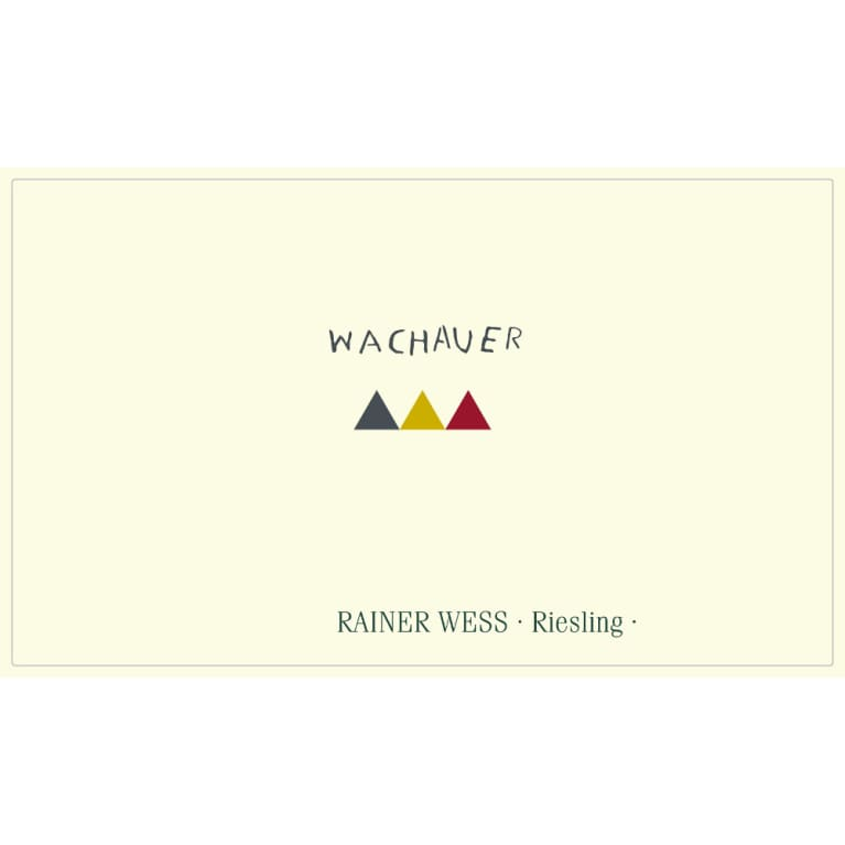 Rainer Wess Wachauer Riesling 2015 Front Label