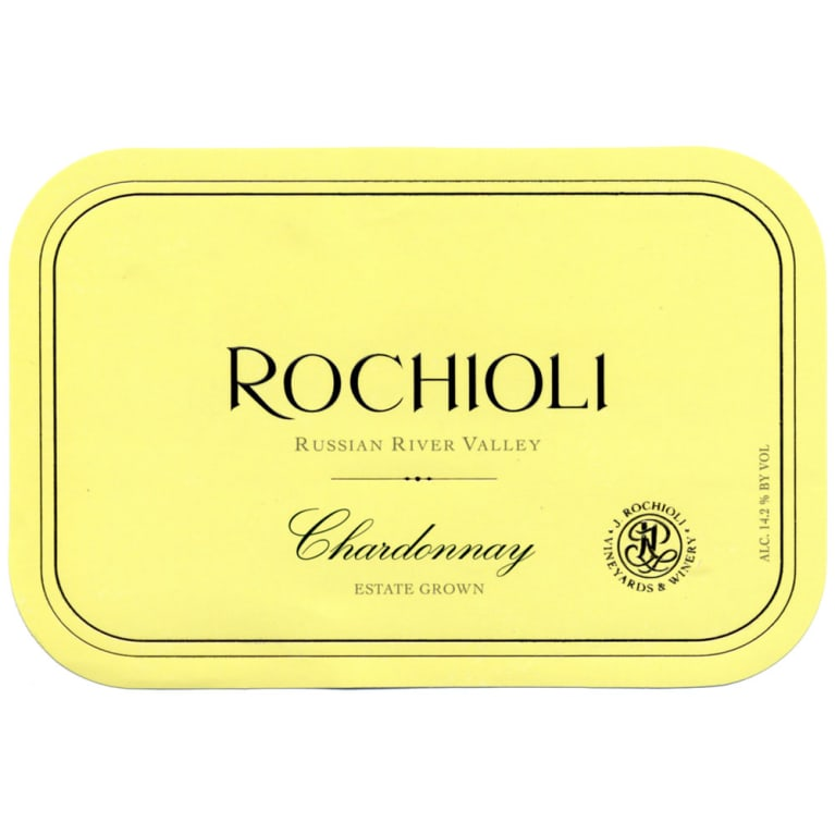Rochioli Estate Chardonnay 2015 Front Label