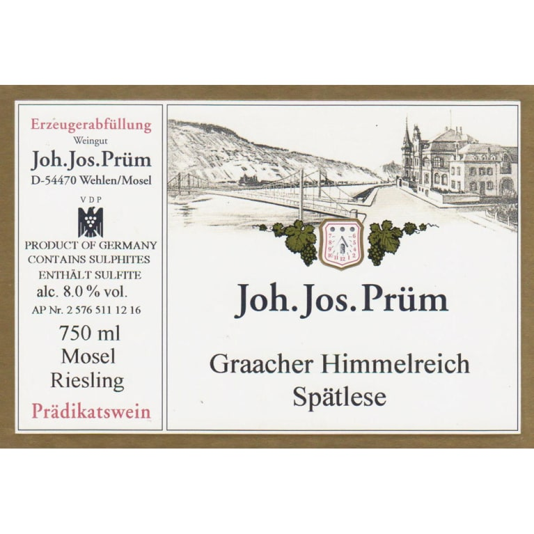J.J. Prum Graacher Himmelreich Spatlese Riesling 2014 Front Label