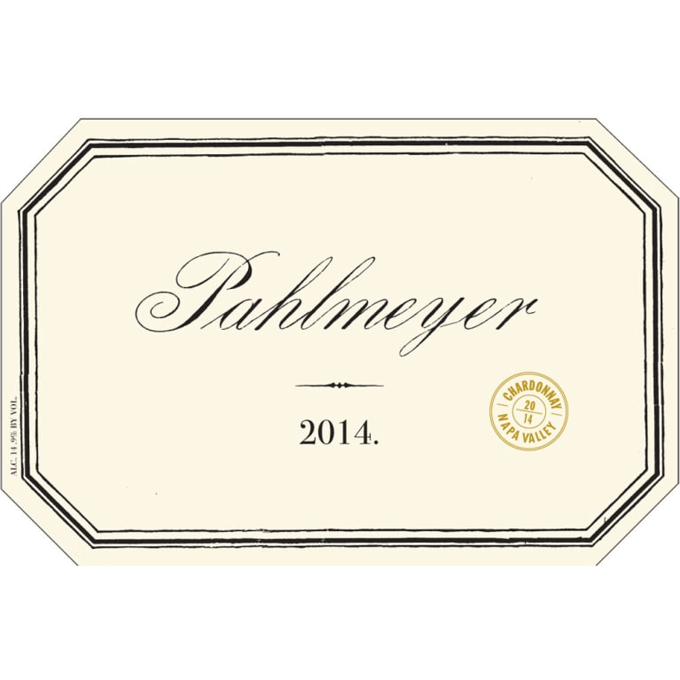 Pahlmeyer Napa Valley Chardonnay 2014 Front Label