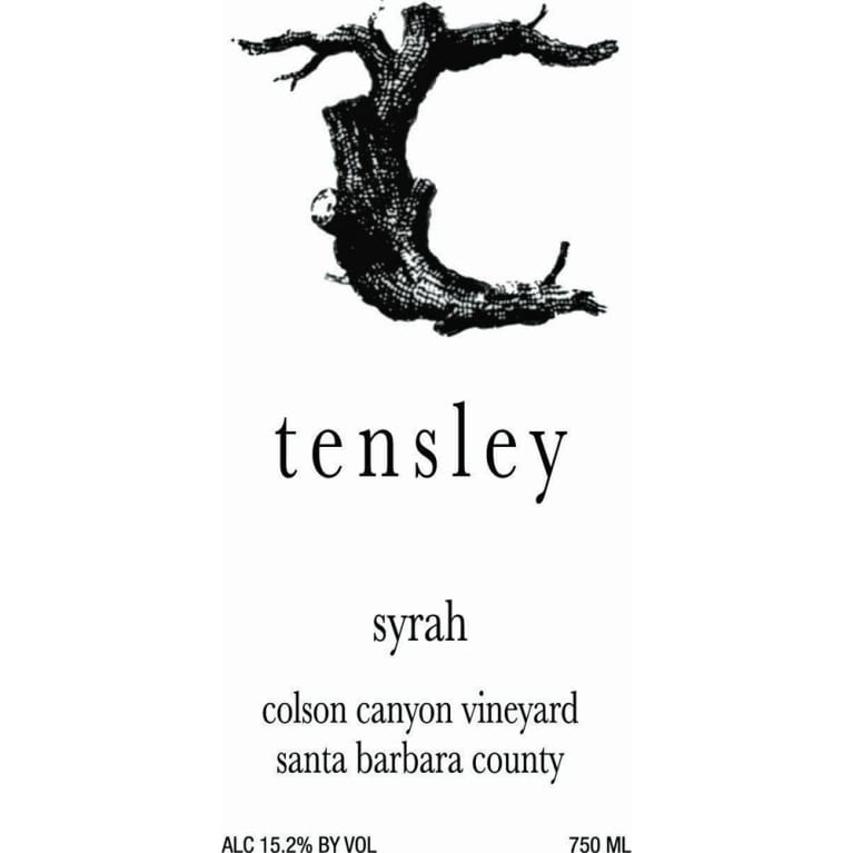 Tensley Colson Canyon Vineyard Syrah 2007 Front Label
