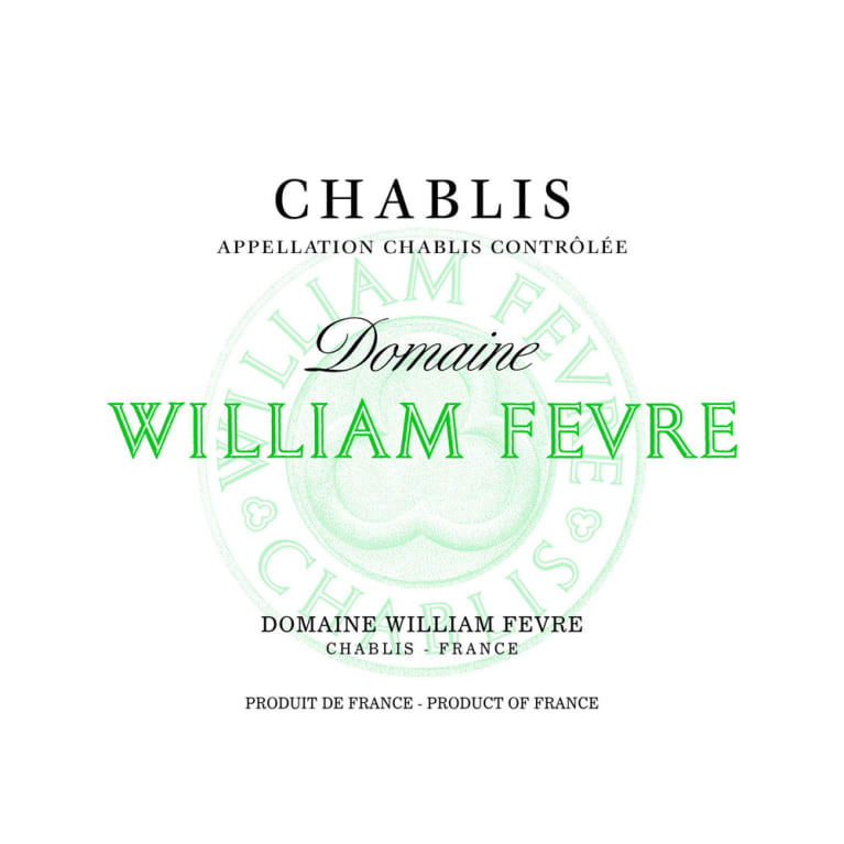 William Fevre Chablis Domaine (375ML half-bottle) 2014 Front Label
