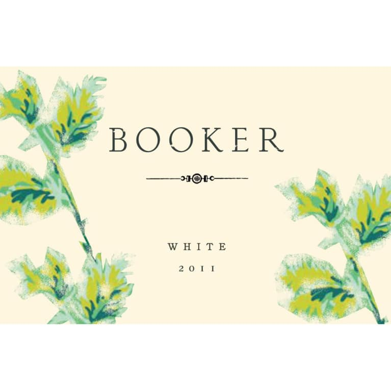 Booker Vineyard White 2011 Front Label