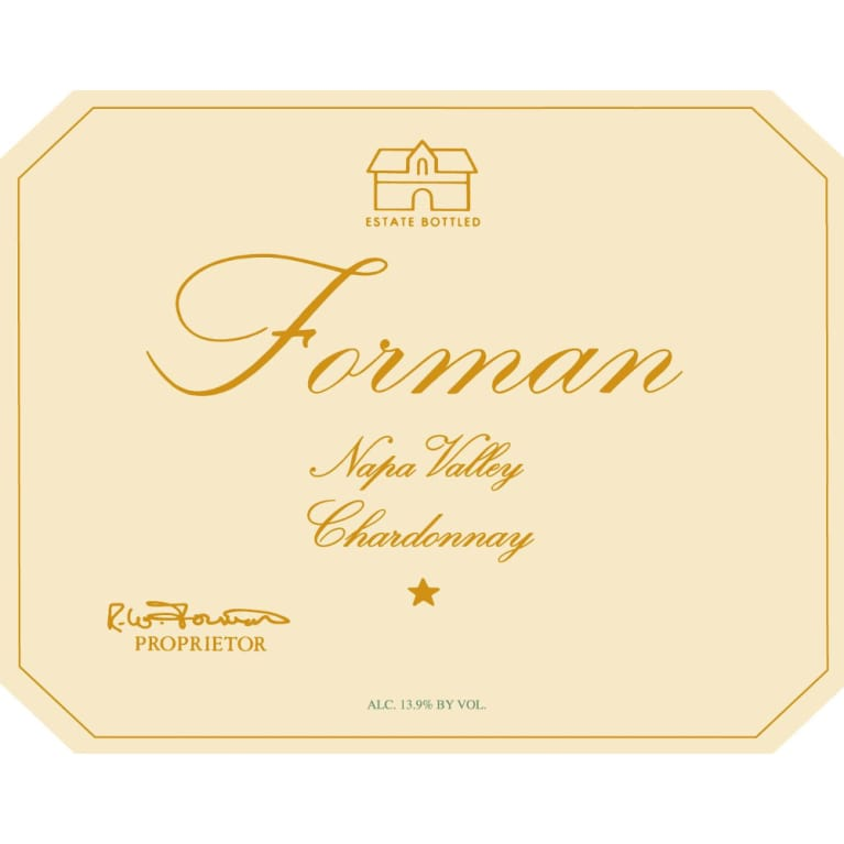 Forman Napa Valley Chardonnay 2014 Front Label