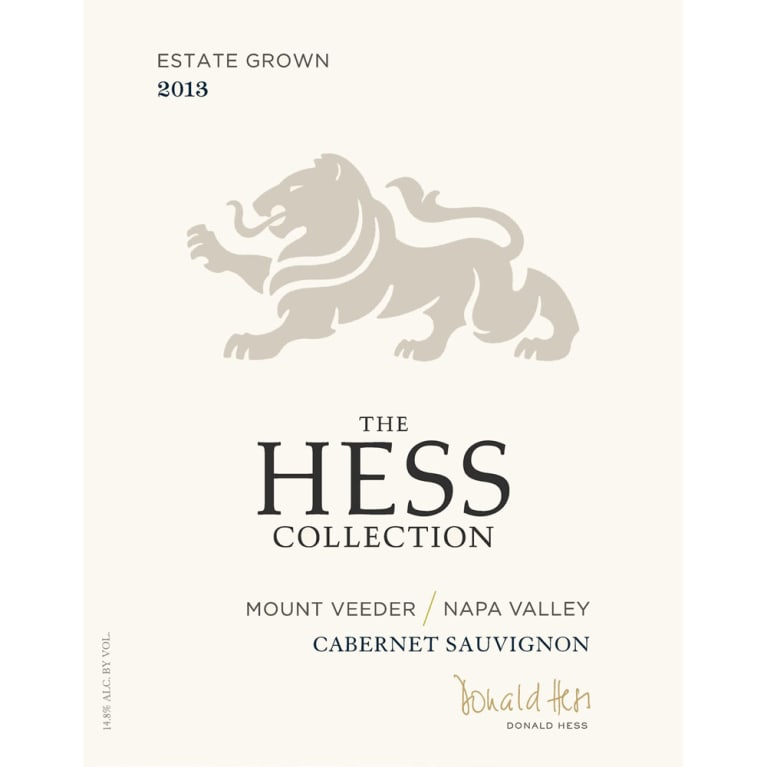 Hess Collection Mount Veeder Cabernet Sauvignon 2013 Front Label