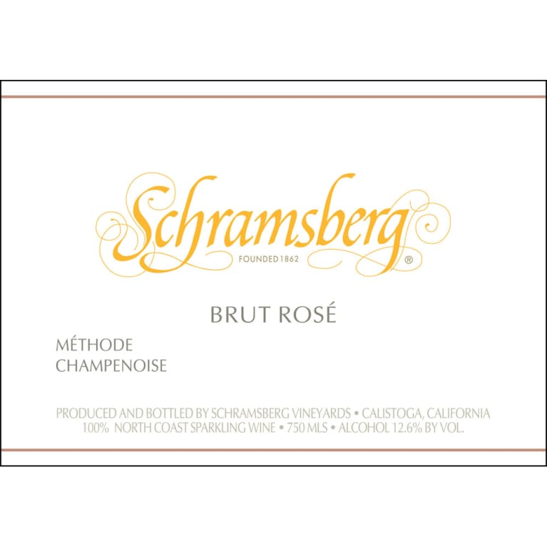 Schramsberg Brut Rose 2014 Front Label