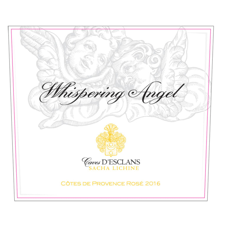 Chateau d'Esclans Whispering Angel Rose 2016 Front Label