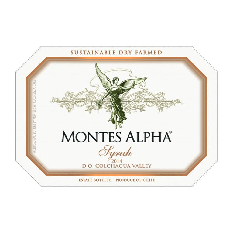 Montes Alpha Series Syrah 2014 Front Label