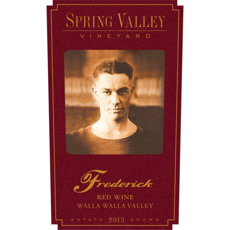 Spring Valley Frederick Estate Red 2013 Front Label