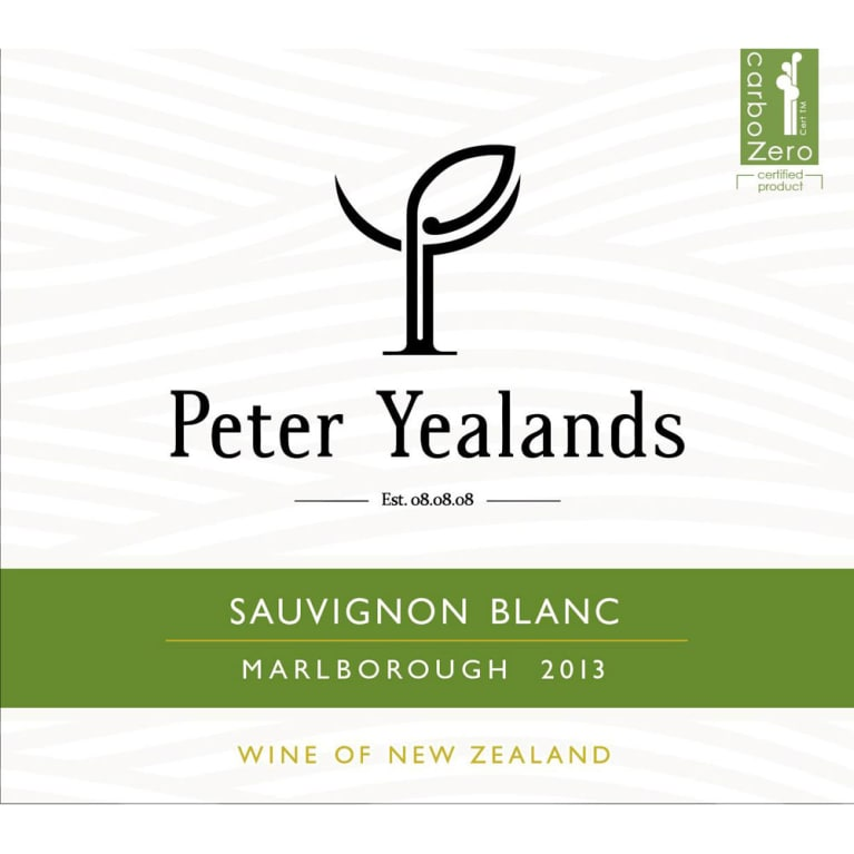 Yealands Peter Yealands Sauvignon Blanc 2016 Front Label