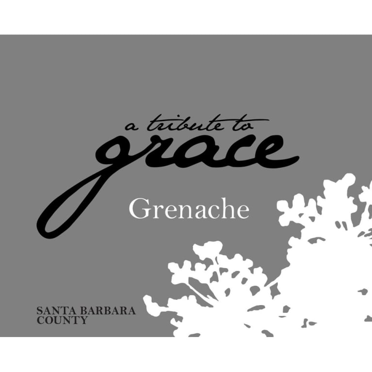 A Tribute to Grace Santa Barbara County Grenache 2015 Front Label