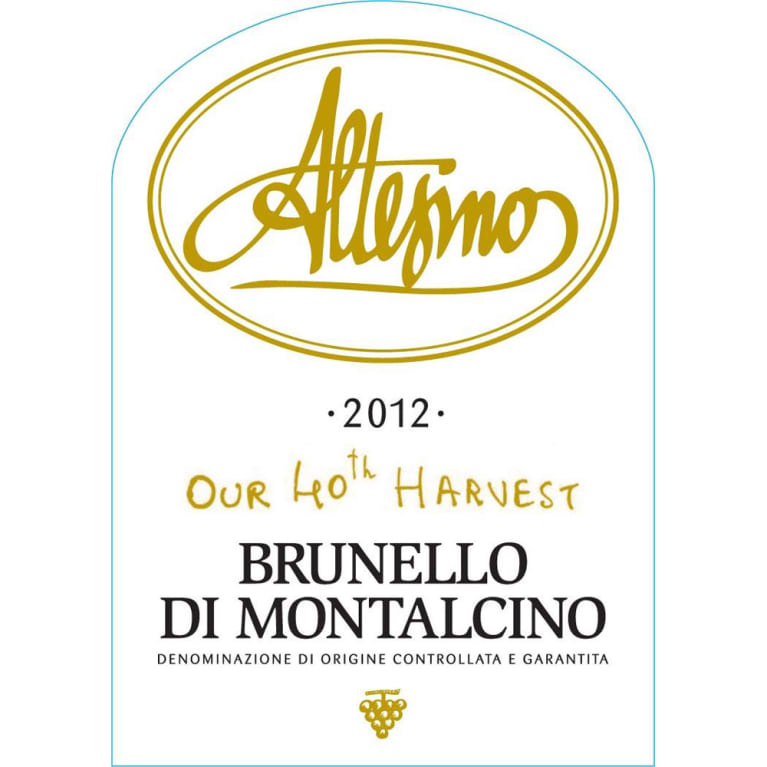 Altesino Brunello di Montalcino 2012 Front Label