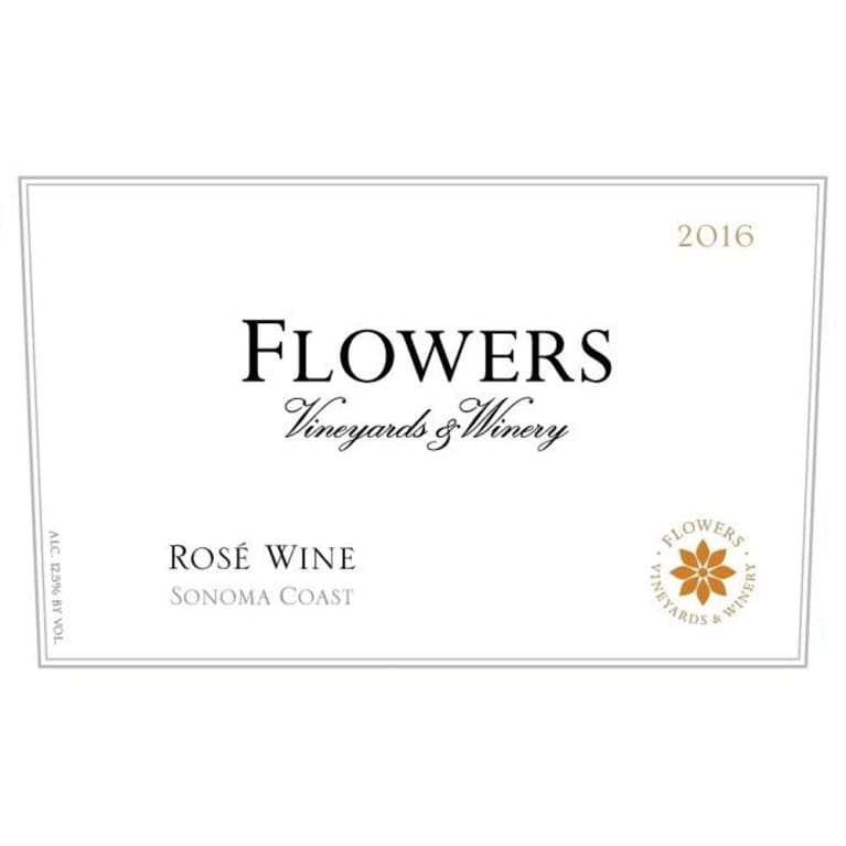 Flowers Sonoma Coast Rose 2016 Front Label