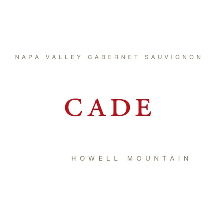 CADE Howell Mountain Estate Cabernet Sauvignon 2014 Front Label