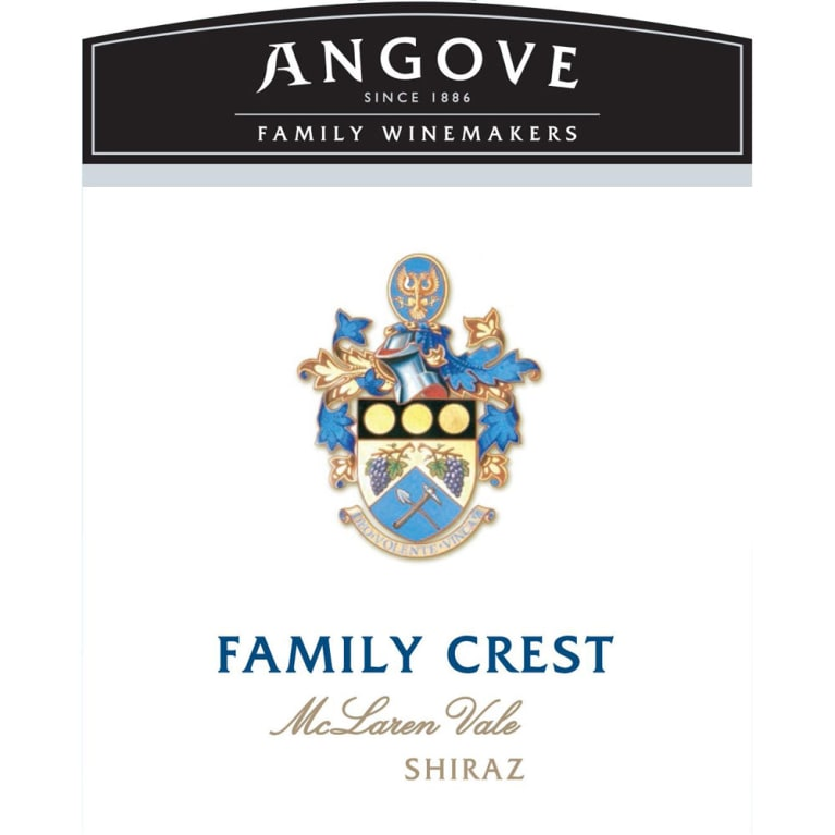 Angove Family Winemakers Family Crest Shiraz 2015 Front Label