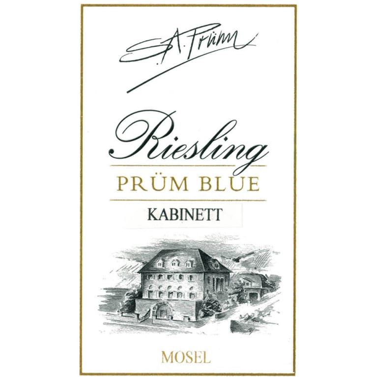 S.A. Prum Blue Riesling Kabinett 2015 Front Label