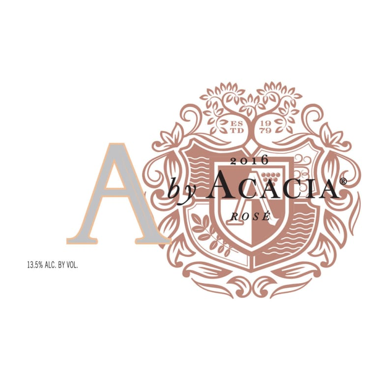 A by Acacia Rose of Pinot Noir  2016 Front Label