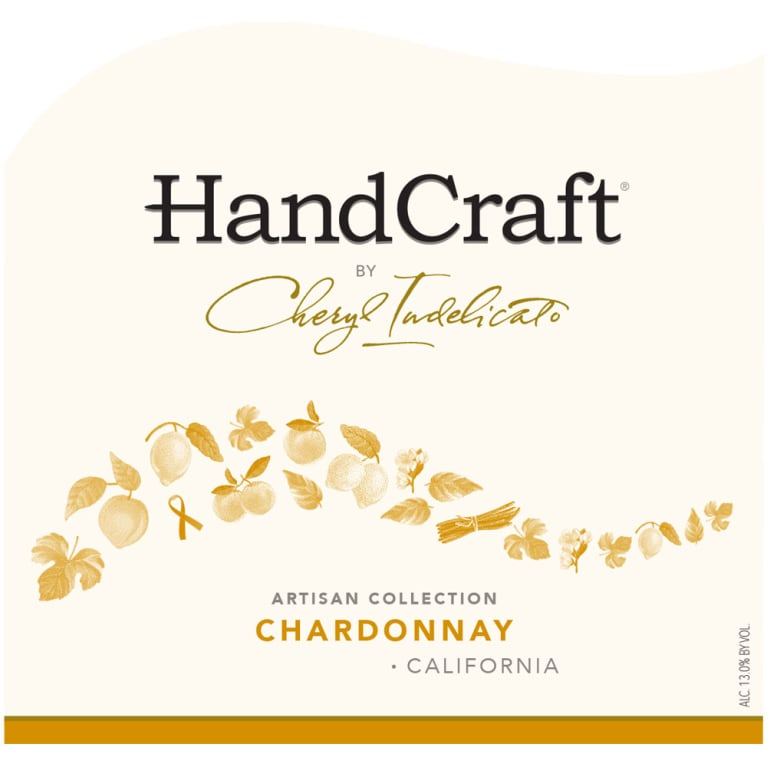 HandCraft Chardonnay 2015 Front Label