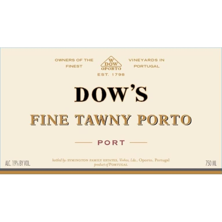 Dow's Fine Tawny Port Front Label