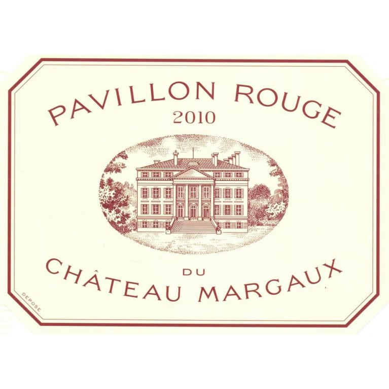 Chateau Margaux Pavillon Rouge 2010 Front Label
