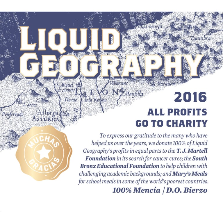 Liquid Geography Rosado 2016 Front Label