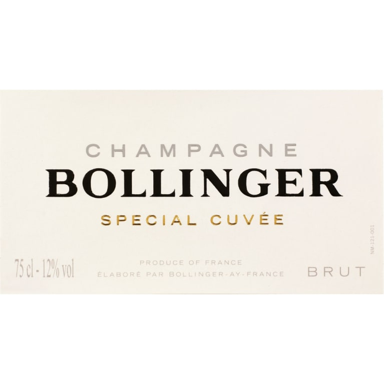 Bollinger Brut Special Cuvee (375ML half-bottle) Front Label