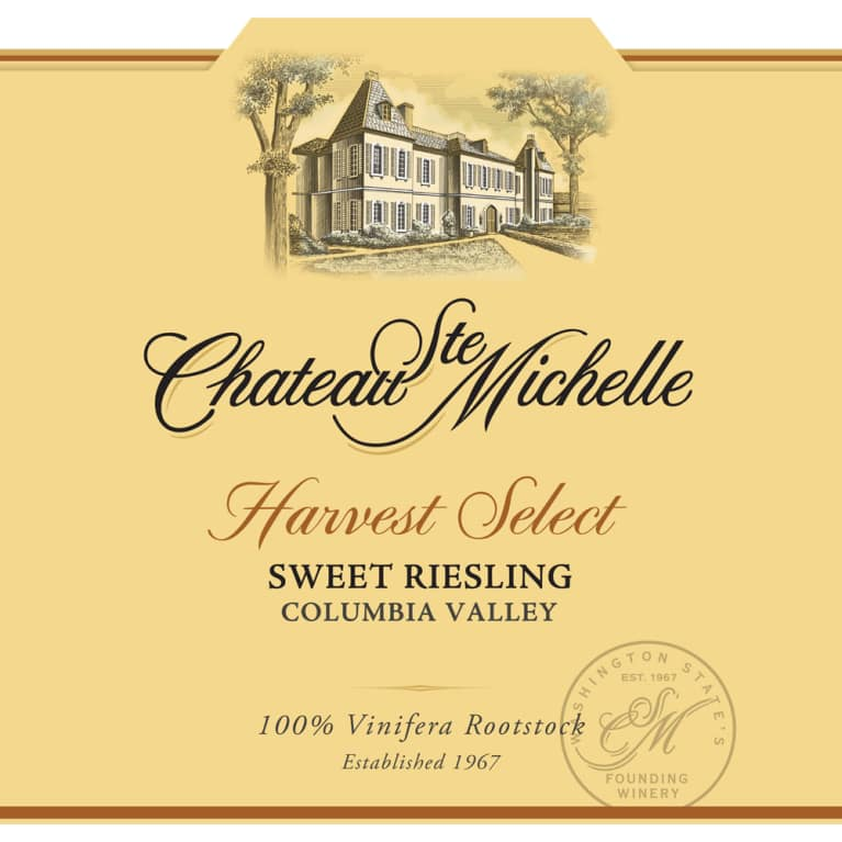 Chateau Ste. Michelle Harvest Select Sweet Riesling 2015 Front Label
