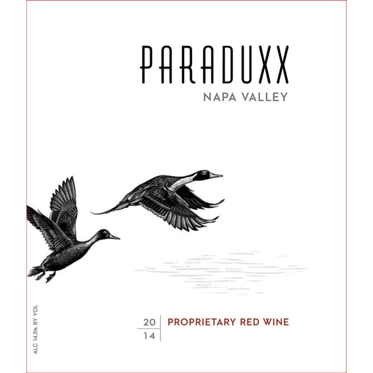 Paraduxx Proprietary Red 2014 Front Label