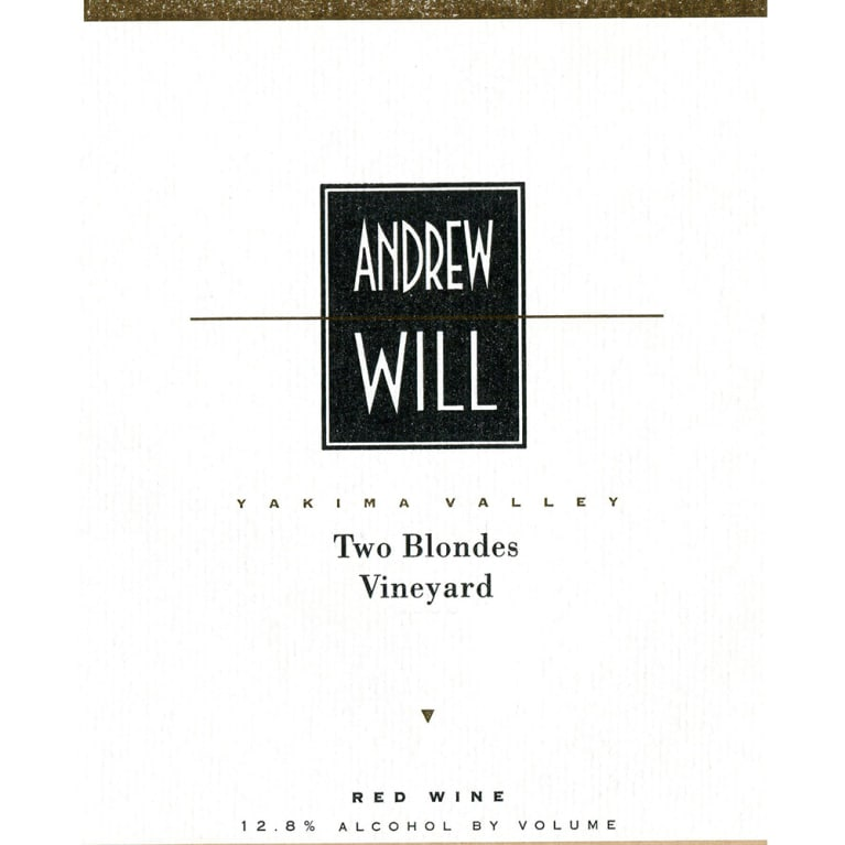 Andrew Will Winery Two Blondes Vineyard Red 2013 Front Label