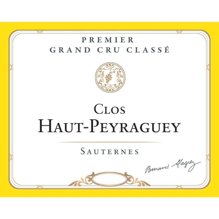 Chateau Clos Haut Peyraguey Sauternes (375ML half-bottle) 2016 Front Label