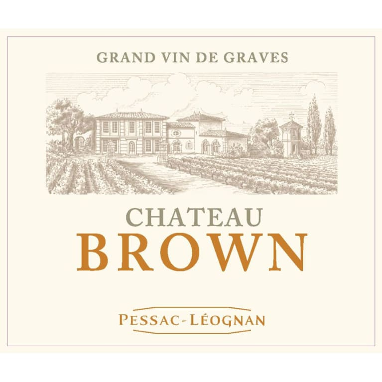 Chateau Brown Blanc 2016 Front Label