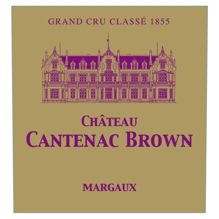 Chateau Cantenac Brown  2016 Front Label