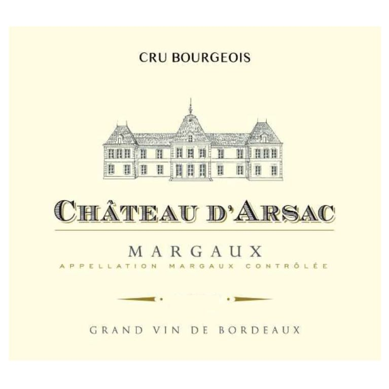 Chateau D'Arsac  2016 Front Label