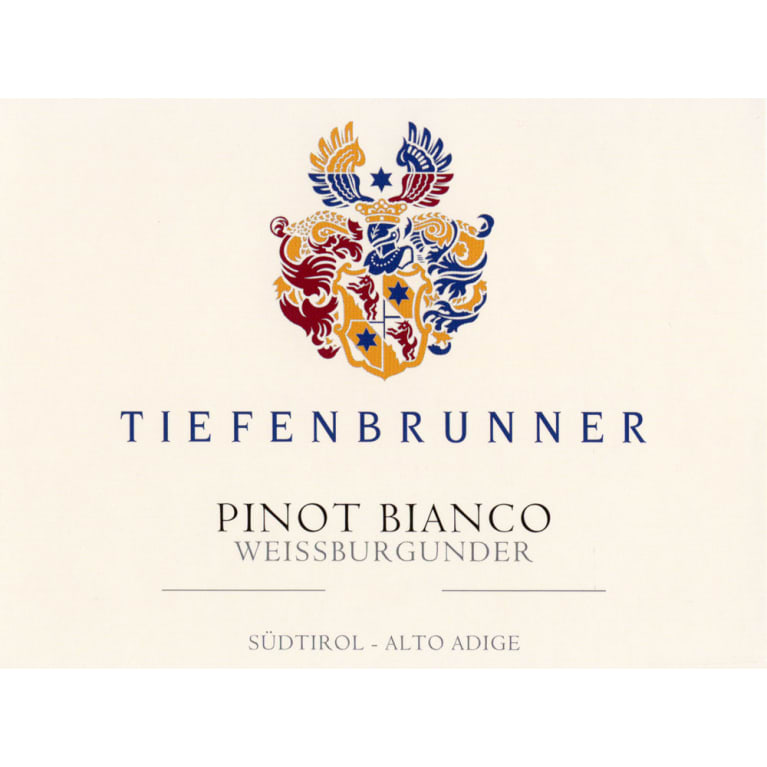 Tiefenbrunner Pinot Bianco 2016 Front Label