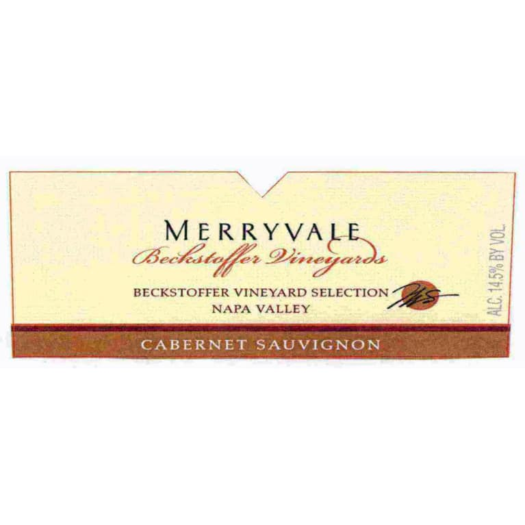 Merryvale Beckstoffer Vineyard Selection Cabernet Sauvignon (scuffed label) 1997 Front Label