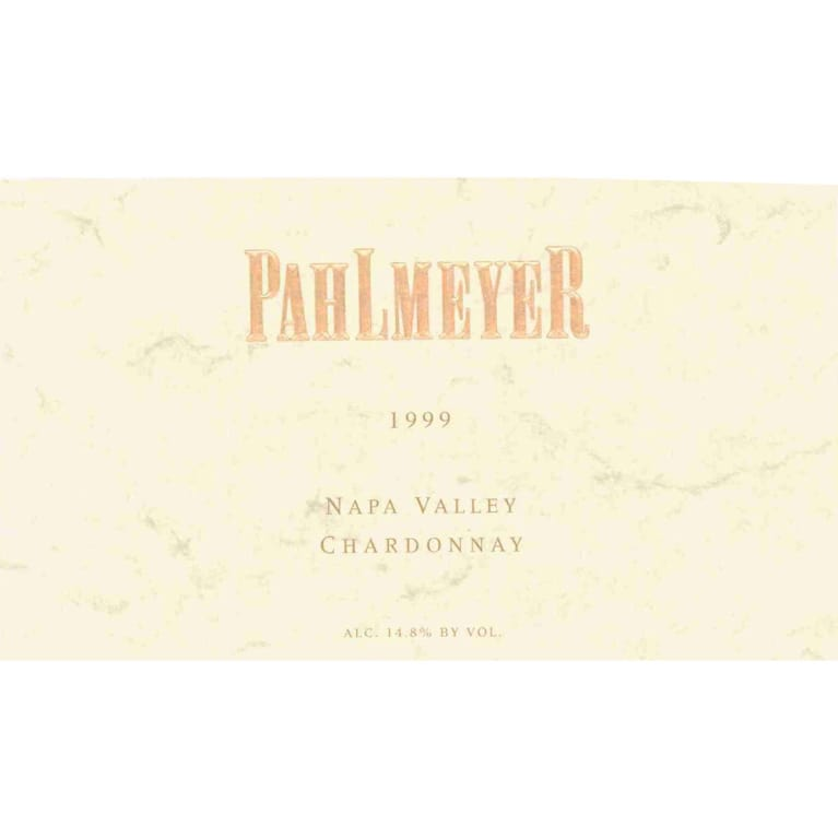 Pahlmeyer Napa Valley Chardonnay 1999 Front Label