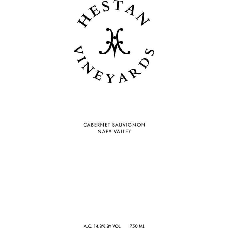 Hestan Vineyards Cabernet Sauvignon (375ML half-bottle) 2003 Front Label