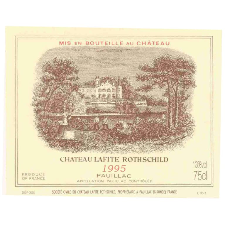 Chateau Lafite Rothschild  1995 Front Label
