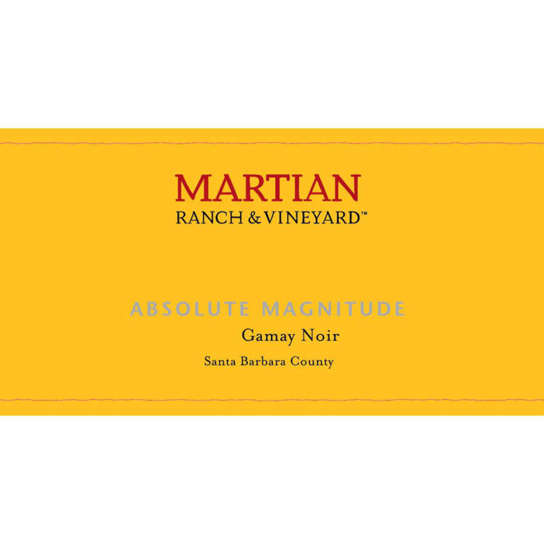 Martian Absolute Magnitude Gamay Noir 2014 Front Label