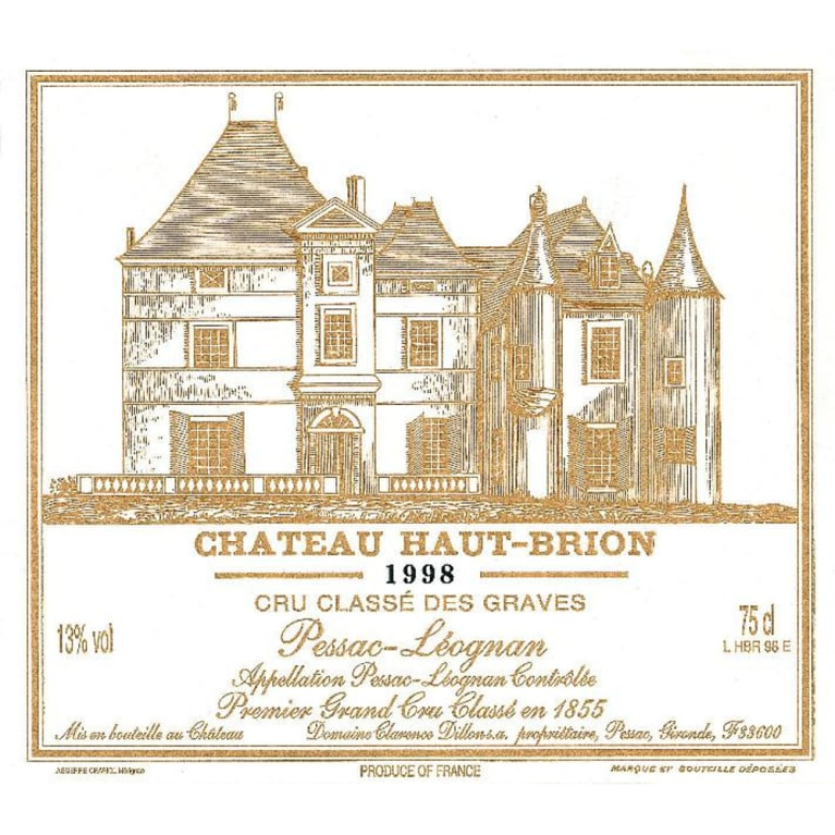 Chateau Haut-Brion  1998 Front Label