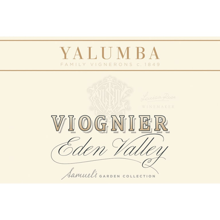 Yalumba Eden Valley Viognier 2016 Front Label