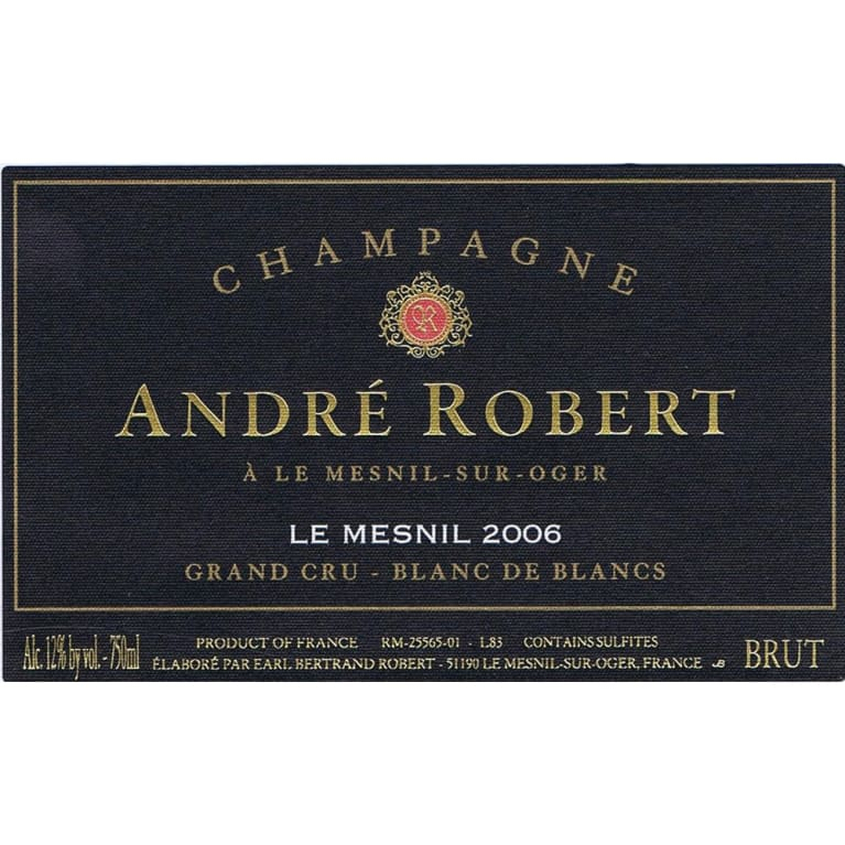 Andre Robert Le Mesnil Grand Cru 2006 Front Label