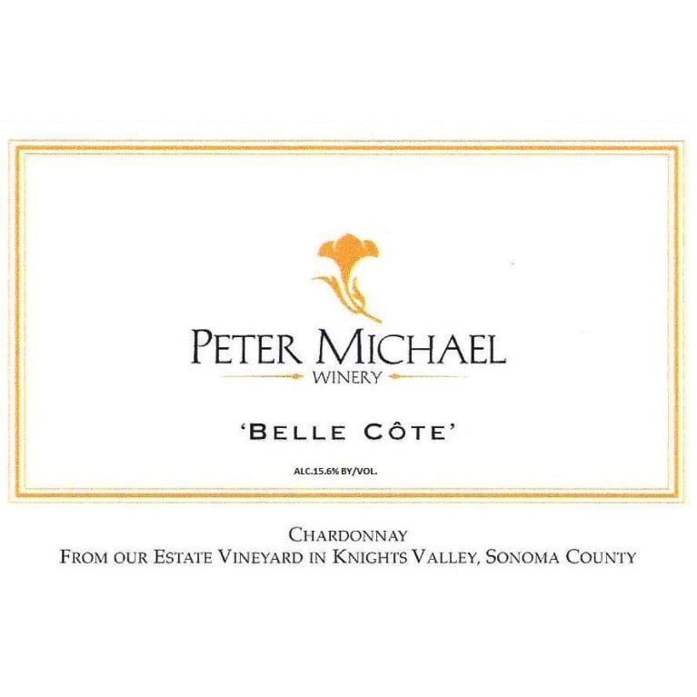 Peter Michael Belle Cote Chardonnay 2015 Front Label