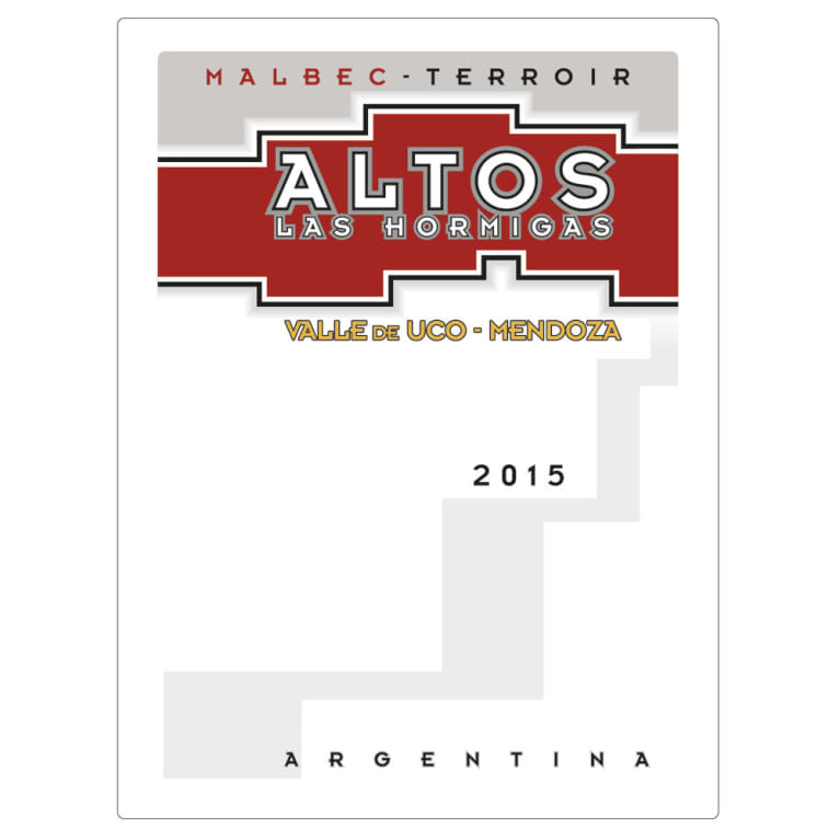 Altos las Hormigas Uco Valley Terroir Malbec 2015 Front Label