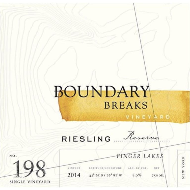 Boundary Breaks No.198 Reserve Riesling 2014 Front Label
