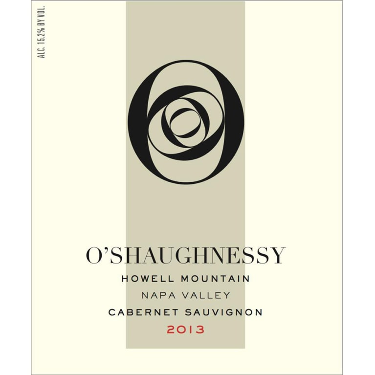 O'Shaughnessy Howell Mountain Cabernet Sauvignon 2013 Front Label