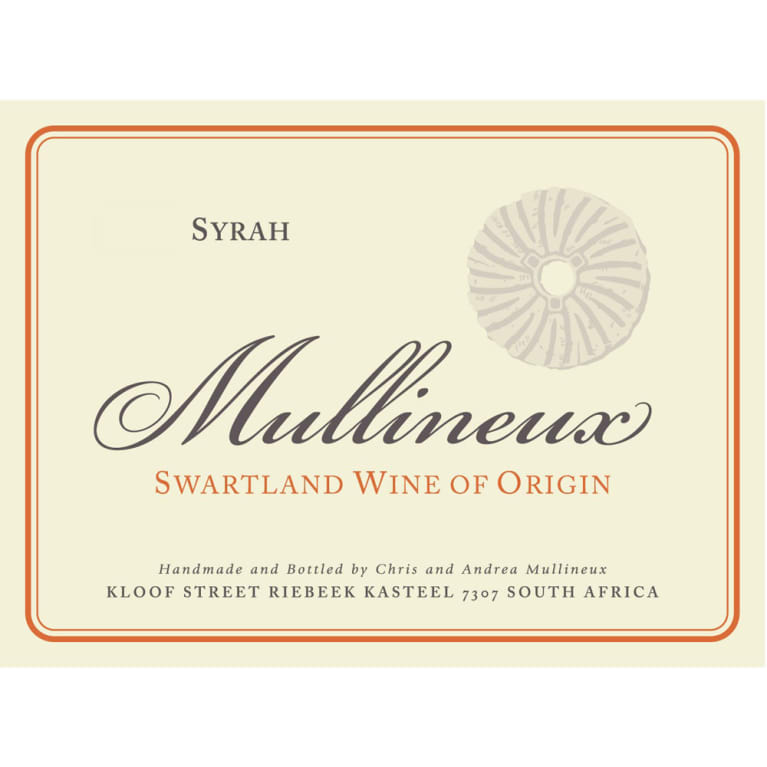Mullineux Family Wines Syrah 2015 Front Label
