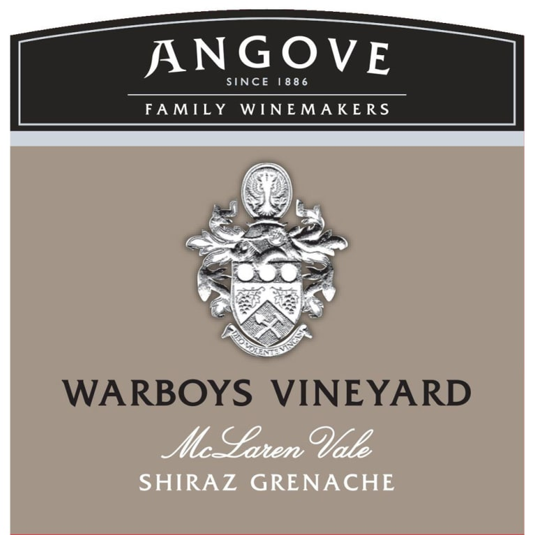 Angove Family Winemakers Warboys Vineyard Shiraz-Grenache 2015 Front Label