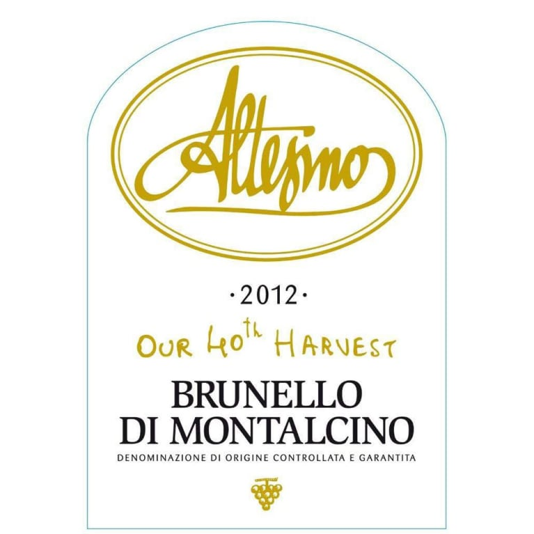 Altesino Brunello di Montalcino (3 Liter Bottle) 2012 Front Label