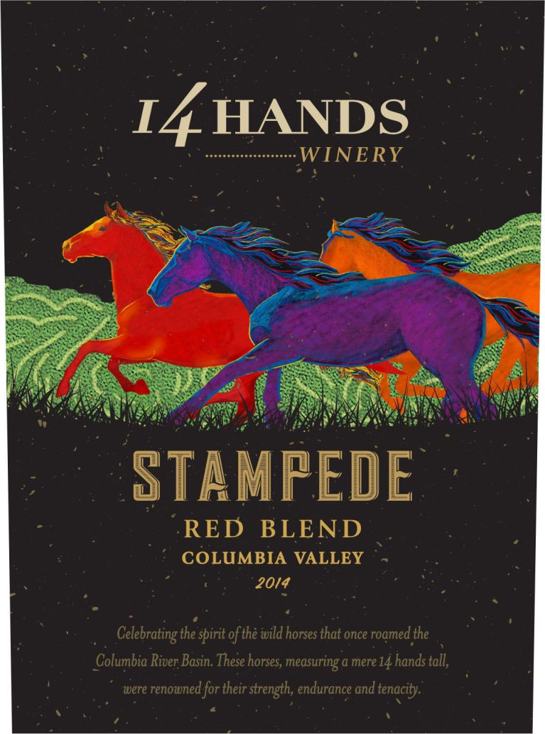 14 Hands Stampede Red Blend 2014 Front Label